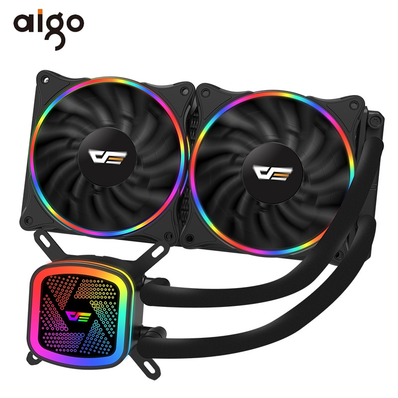 Aigo PC מקרה מים קירור מחשב CPU Cooler RGB מים Cooler גוף קירור משולב מעבד קירור רדיאטור LGA 1151/2011/AM3 +/AM4