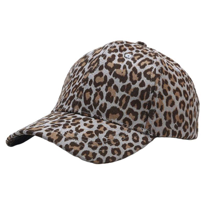 Unisex Vintage Leopard Druck Baumwolle Baseball Cap Harajuku Hip Hop Snapback Hut 449F