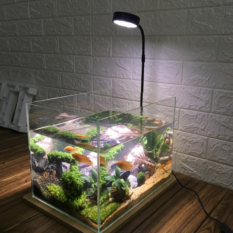 Casa com Placa de Madeira Vasos de Plantas Tanque de Peixes Isolamento Térmico Completo Miniatura Paisagem 10w Anti Inseto Aquário Led Luz