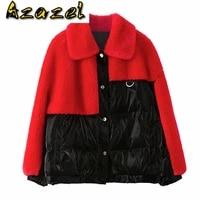 autumn winter wool jacket women clothes 2020 korean vintage real female down coat sheep shearling fur tops zt4284