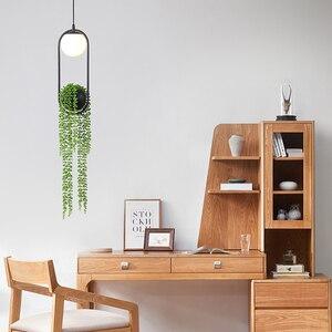 Modern Pendant Light Led Nordic Hanging Lighting Fixture Living Bedroom Dining Restaurant Bar Indoor Plant Decor Lamp Suspension