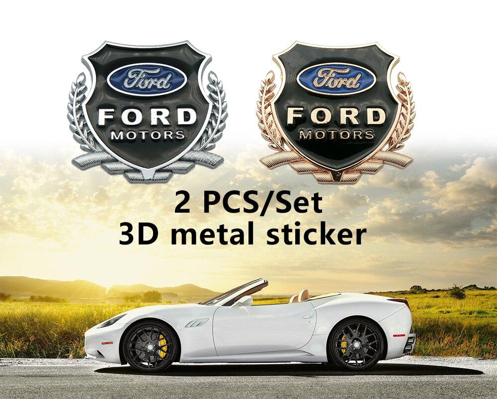 Pegatinas de Metal 3D para coche, para puerta pegatina, ventana, decoración corporal para Ford Ecosport Fiesta MK7 Focus 2 4 MK2 MK4, accesorios para coche