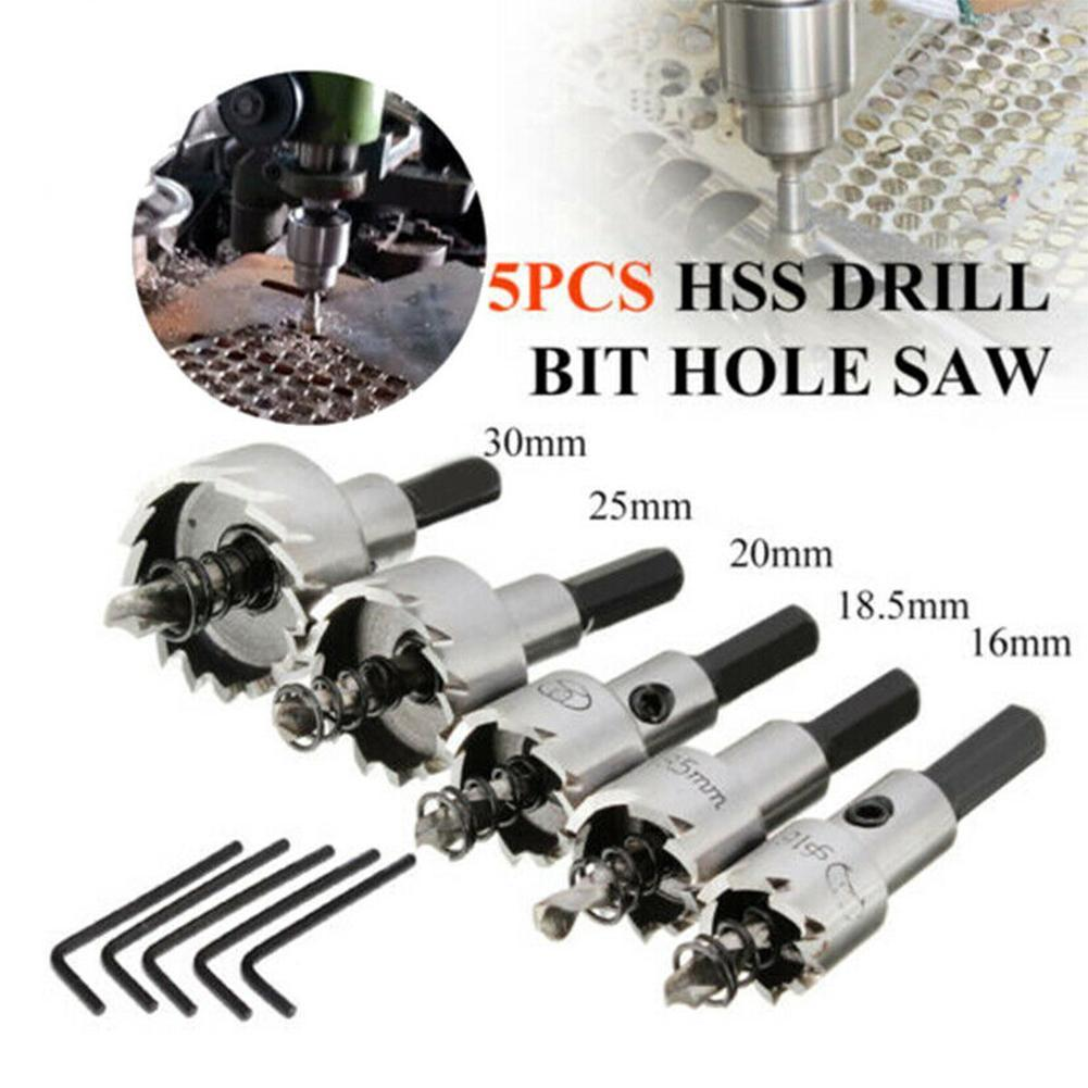5x Hole Saw Tooth Kit HSS Steel Drill Bit Set Cutter Wood Tools For Metal Tool Alloy R9P8