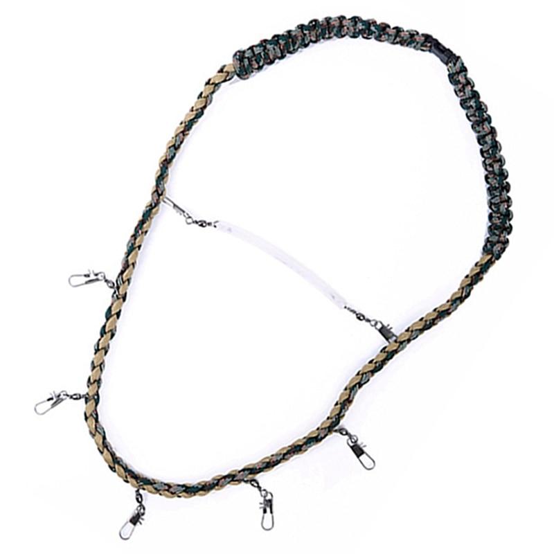 Cordón para pesca con mosca collar trenzado cuerda de pesca soporte de herramientas de pesca hilo para colgar accesorios para pesca al aire libre