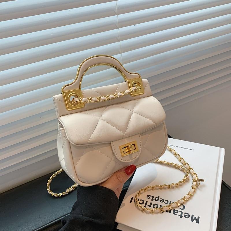 S.IKRR Pu Leather Diamond Thread Mini Bags For Women 2021 Luxury Designer Handbag Girls Fashion Chain Crossbody Bag Coin Wallets