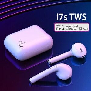 I7s TWS беспроводные наушники, Bluetooth наушники, Air наушники, Спортивная гарнитура, гарнитура с зарядной коробкой для Xiaomi iPhone Android