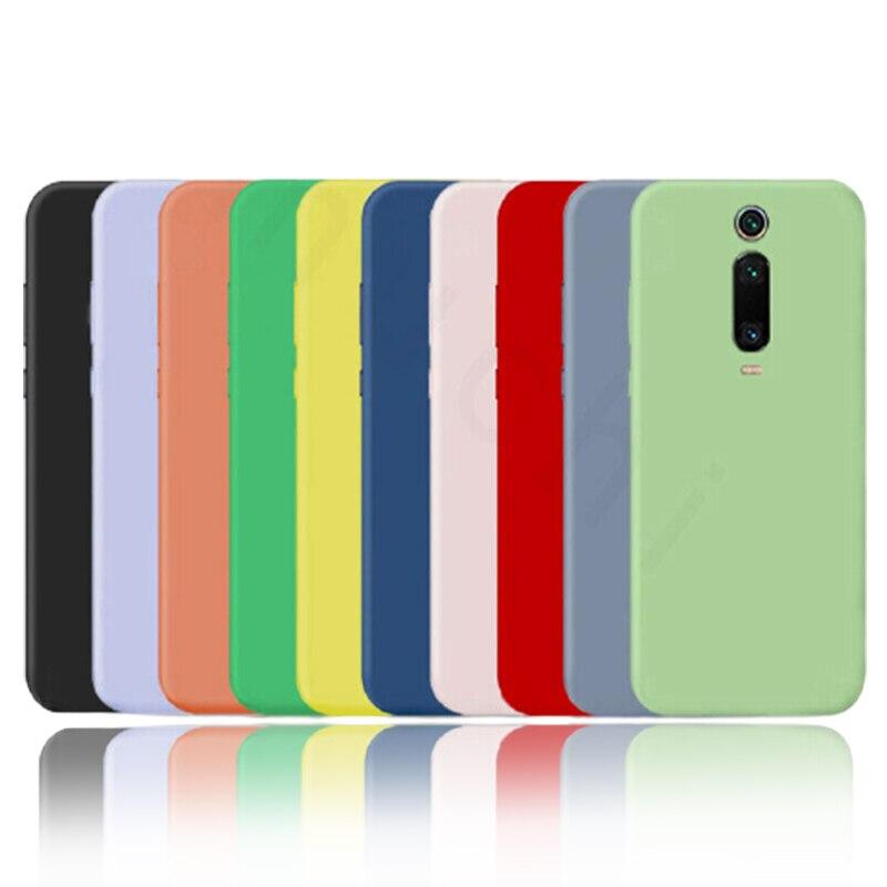 La silicona líquida para Xiaomi Mi nota 10 Pro 9 SE 9T Pro A3 A2 Lite Slim cubierta suave para Xiaomi Redmi Nota 9 s 8 Pro 7 8T 7A 8A