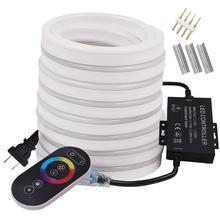 Rvb néon bande de lumières LED tactile télécommande ca 220V 110V ruban ruban Flexible LED enseigne au néon 2835 5050 120LED/m RGB lampe à LED