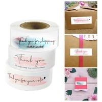 1 roll thank you for your order stickers seal labels for hand made gift or bussiness decor labels