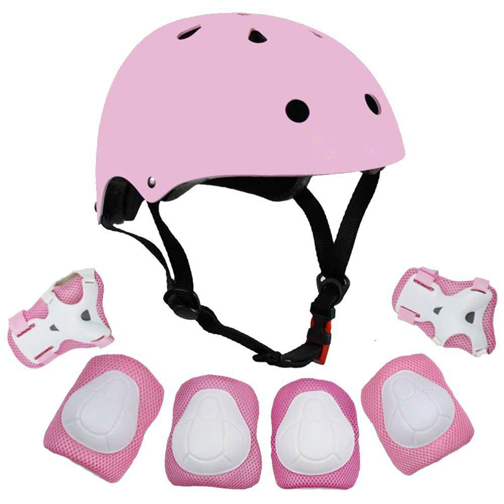 7pcs/set Cycling Roller Skating Protective Gear Pads Helmet Knee Elbow Wrist Guards Outdoor Sport Sa