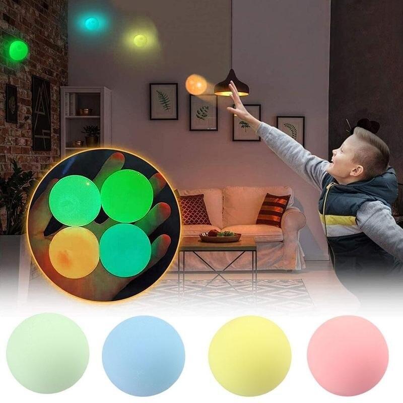 Светящийся мяч для снятия стресса, мячи для снятия стресса, мяч для сквоша, детская игрушка, светящееся в темноте кольцо, детская игрушка