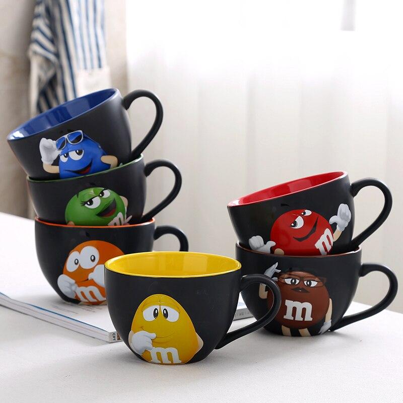 600ml genuíno americano m feijão de chocolate canecas cerâmica copos de chá canecas de café leite canecas copo de café da manhã watrer garrafa presente de natal