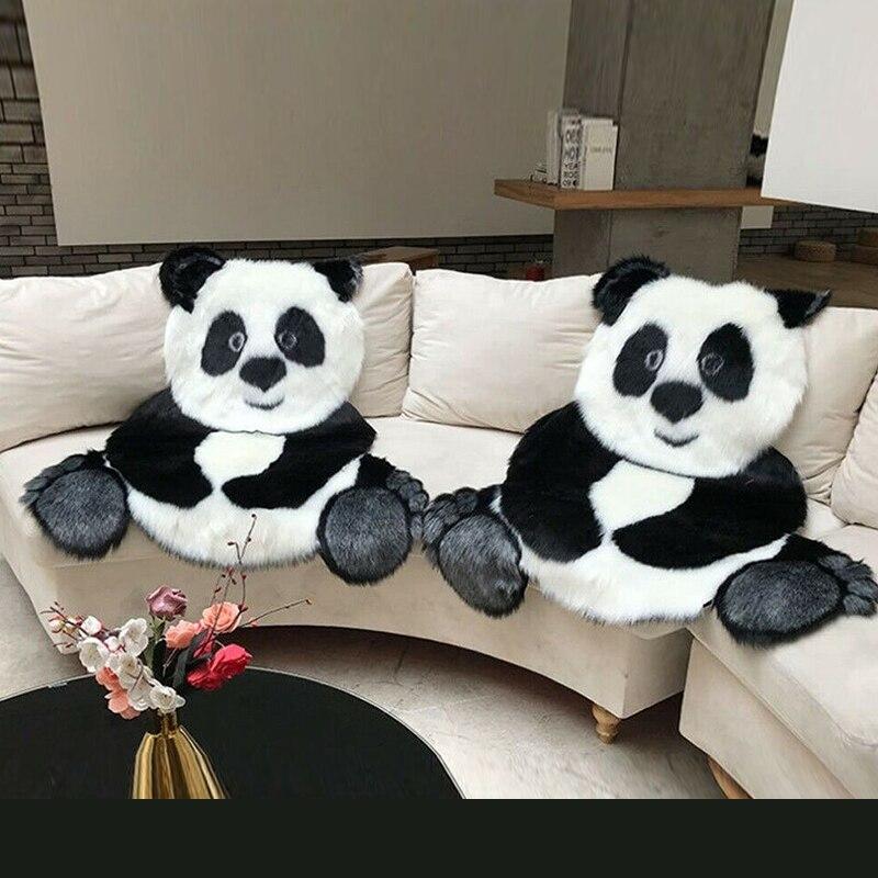 سجادة أرضية بطبعة الباندا ، قطيفة ، غير قابلة للانزلاق ، للمنزل ، لغرفة النوم وغرفة المعيشة