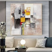 hand painted oil painting modern oil canvas painting abstract wall art palette picture golden living room hotel wall decoration