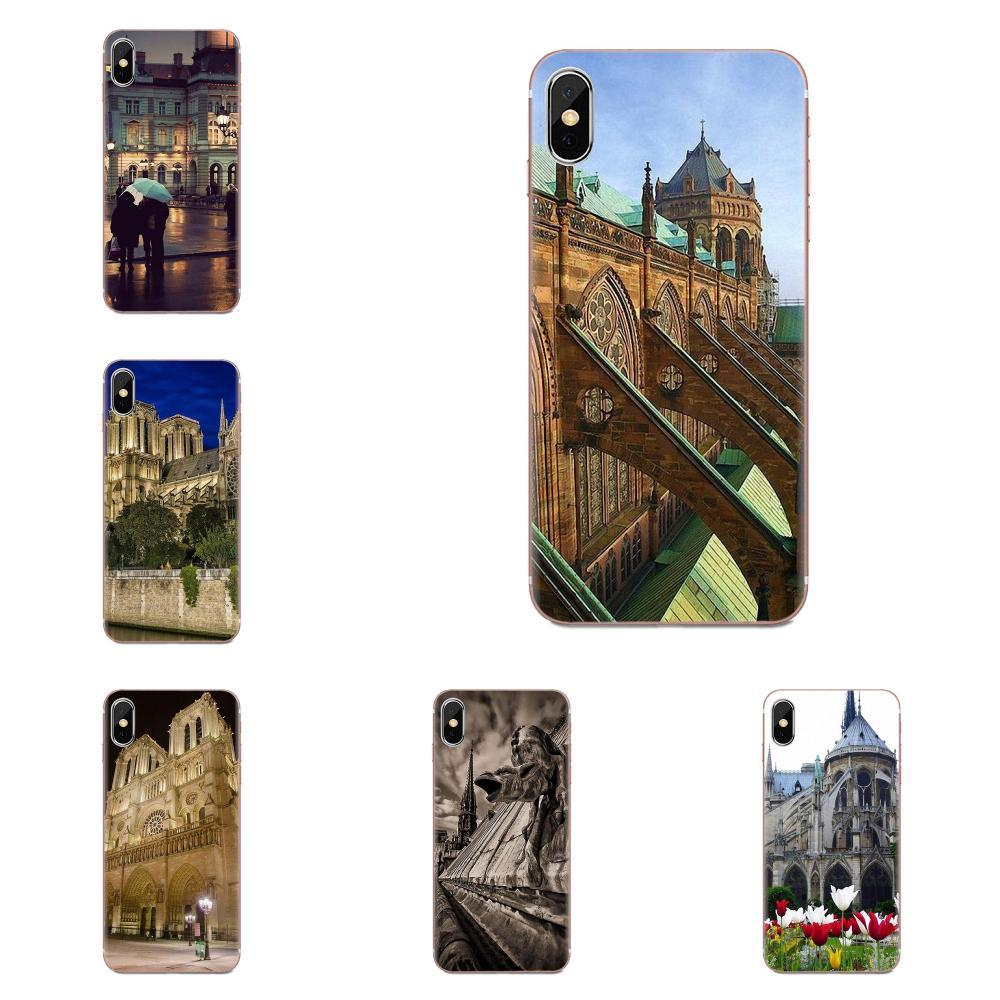 Catedral de notr-dame en paris, capa de silicone para celular huawei mate 9 10 20 p p8 p9 p10 p20 p30 p40 lite pro smart 2017