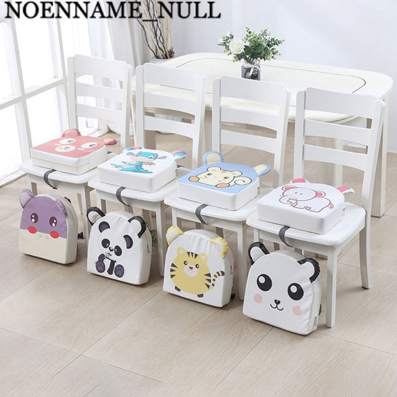 Portable PU Leather High Chair Pad Booster Dining Room Adjustable Detachable Sponge Seat Cushion for Toddler Kids Baby Infant