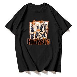 Fashion Cool haikyuu  Suga t shirt  100% Cotton Cool Tops Kuroo Cartoon T-shirt Karasuno Kawaii Fly High Graphic Tees Male