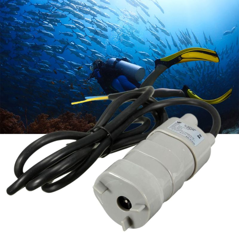 Dc 12V Waterpomp Dompelpompen Micro Motor Hoge Druk 5M 840L/H Auto Wassen Aquarium Tuin Vis tank Fontein 63HF