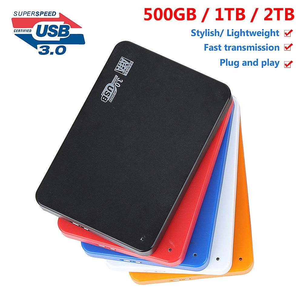 2.5inch External Hard Drive USB 3.0 500GB 1TB 2TB Storage HDD External Hard Disk Portable HD Hard Di