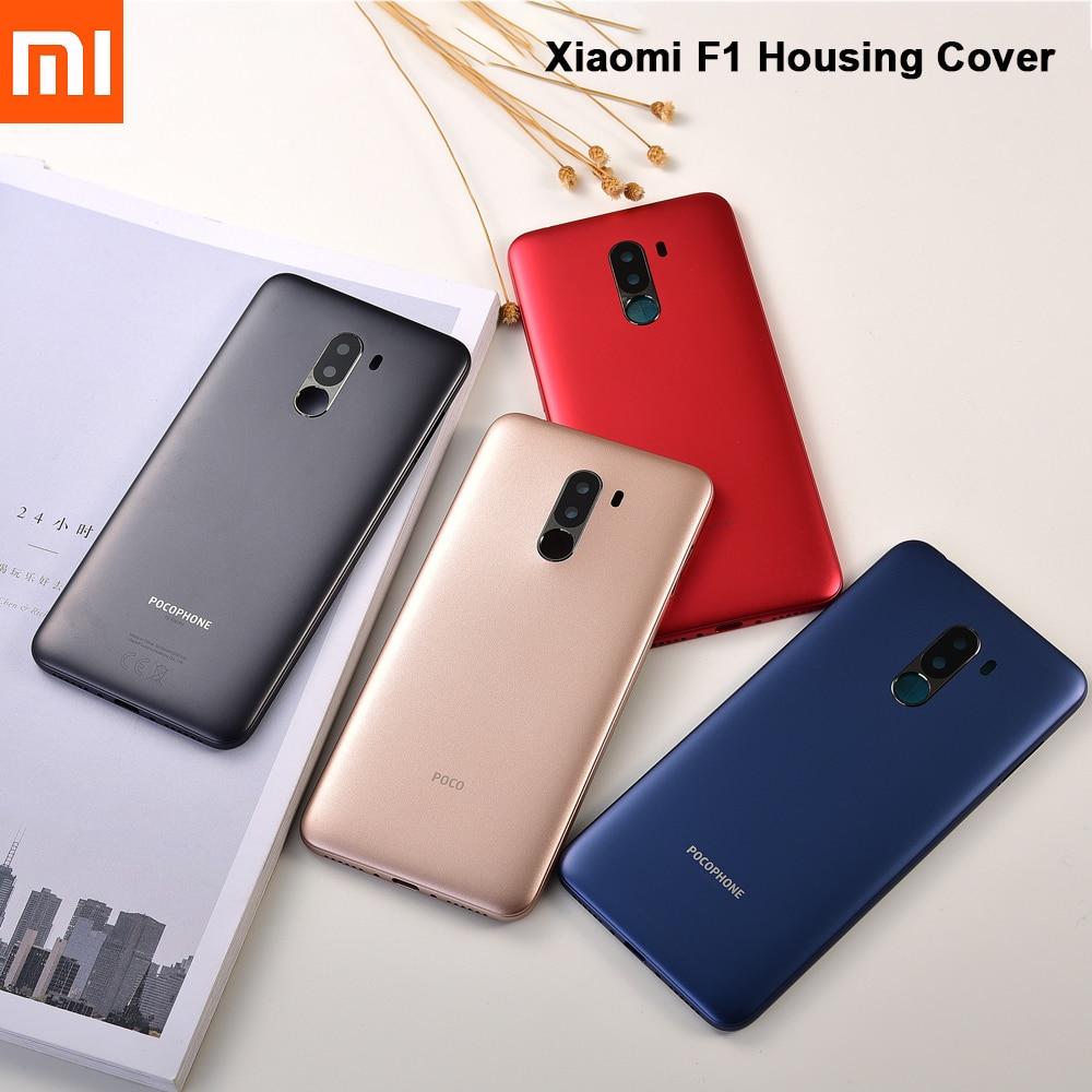 Original Xiaomi Pocophone F1 Battery Back Cover Plastic Door Housing Replacement Hard Battery Case F