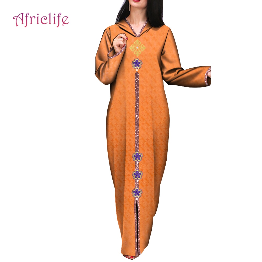 Hoodies African Dresses for Women Dashiki African Clothes Basin Riche Robe Boubou Africain Style Africa Dress Outfit WY662