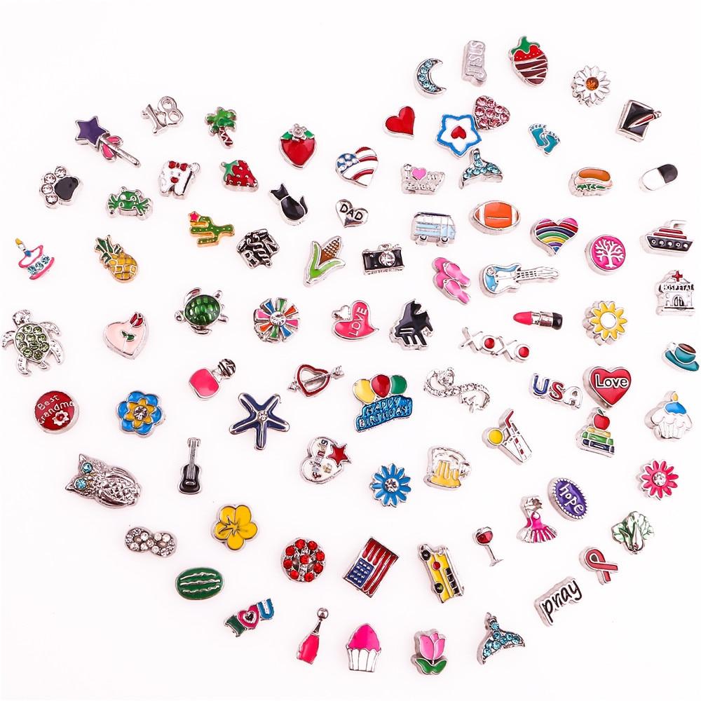 60 шт./лот, Смешанные случайные распродажи, Плавающие Подвески, подходящие для стеклянной живой памяти, Плавающие Подвески, медальоны, ювелир...