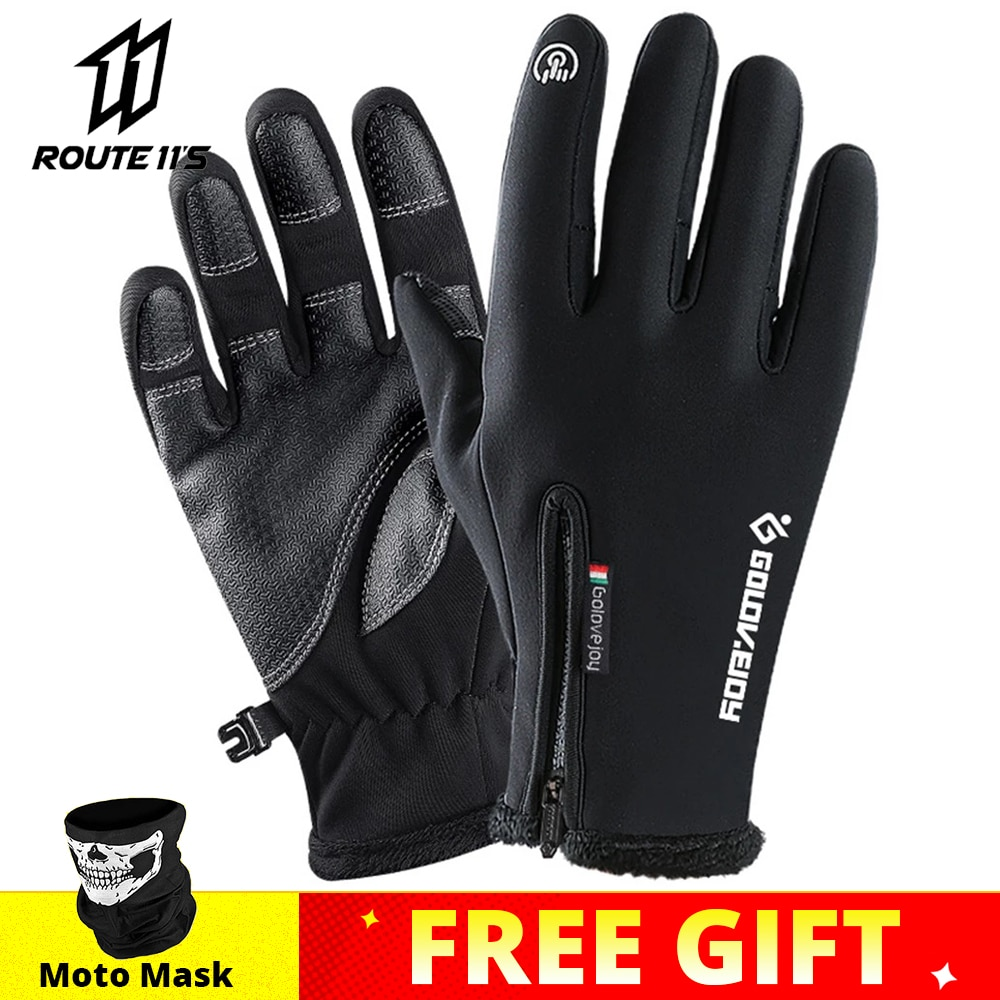 aliexpress.com - Motorcycle Gloves Moto Gloves Winter Thermal Fleece Lined Winter Water Resistant Touch Screen Non-slip Motorbike Riding Gloves #