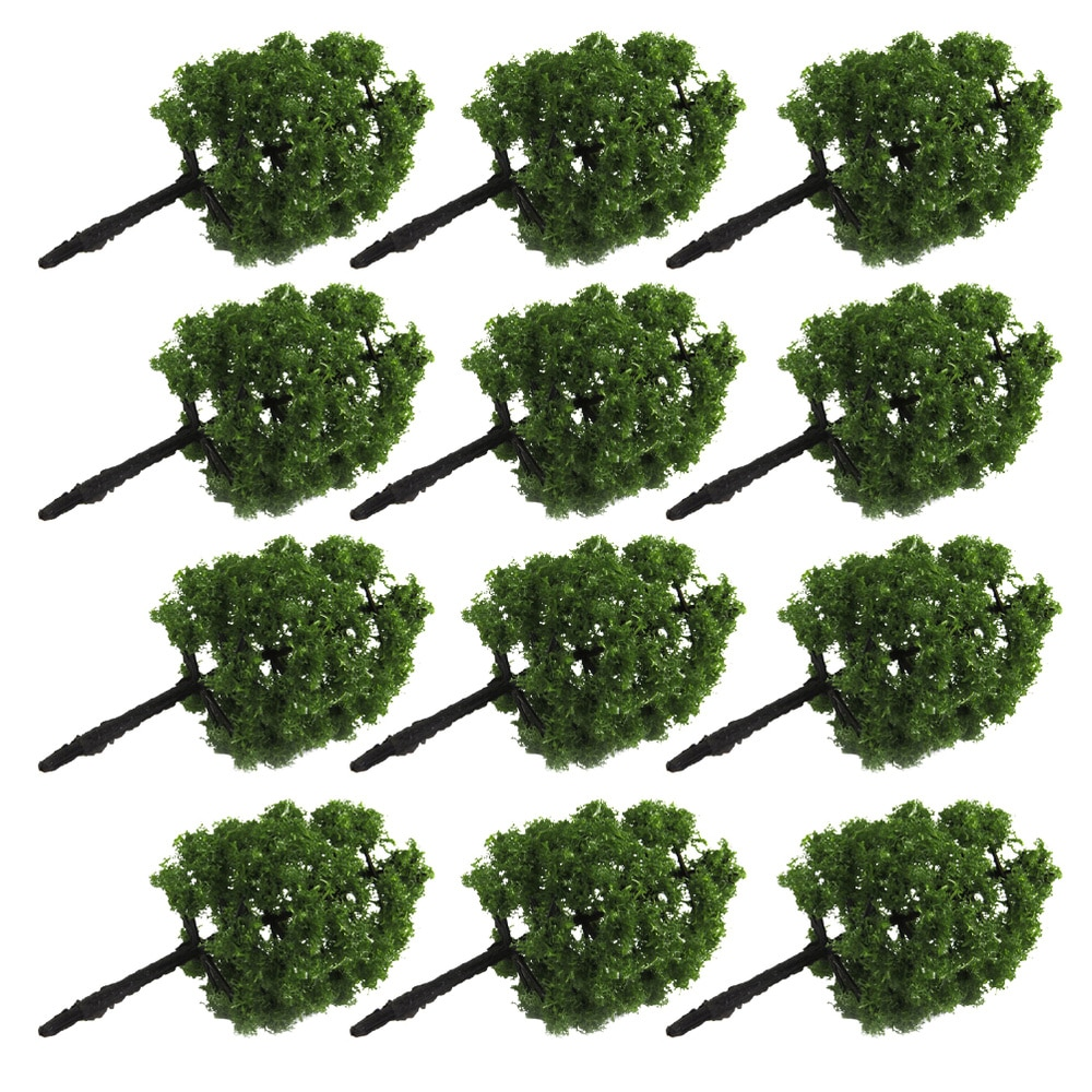 20pcs 9CM Scenery Landscape Model Tree (Dark Green)