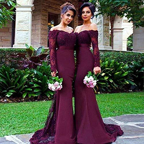 Long Sleeved Mermaid Evening Dresses 2019 New Off the Shoulder Full Sleeve Prom Party Dress Illusion
