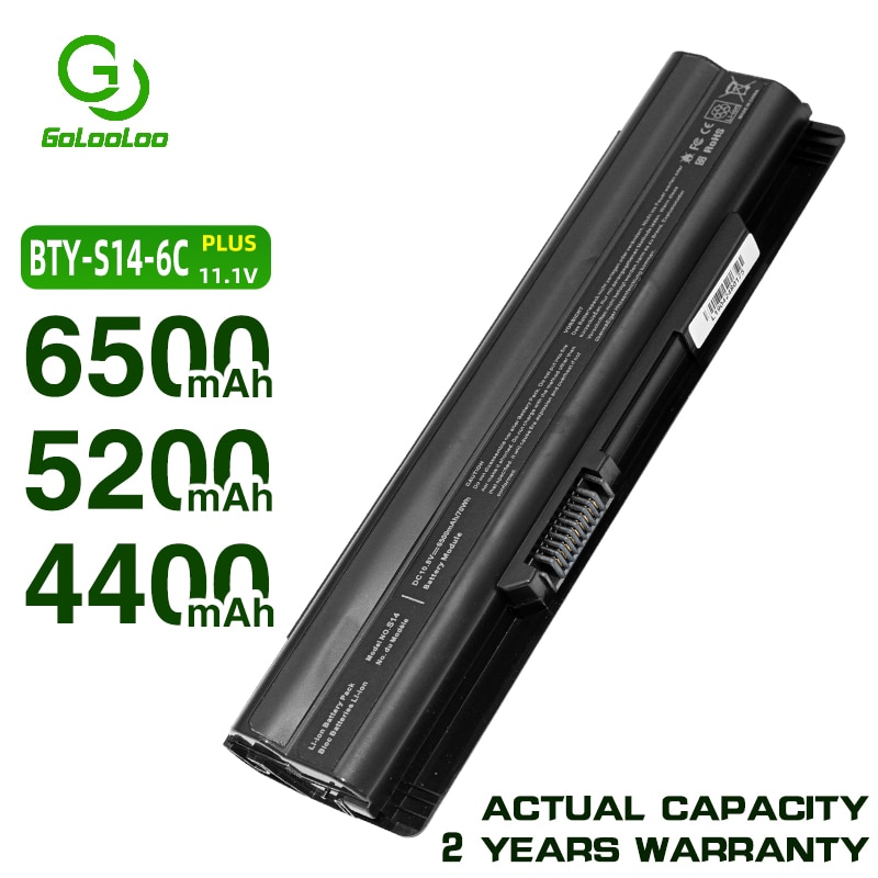 Golooloo batería de 4400MaH para MSI BTY-S14 BTY-S15 CR650 CX650 FR700 FR400 FR610 FR600 FR620 FR700 GE70 GE60 FX420 FX600 FX603