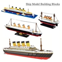 building block toys titanic cruise ship classic collection model decoration diy ship assembled building blocks childrens toys