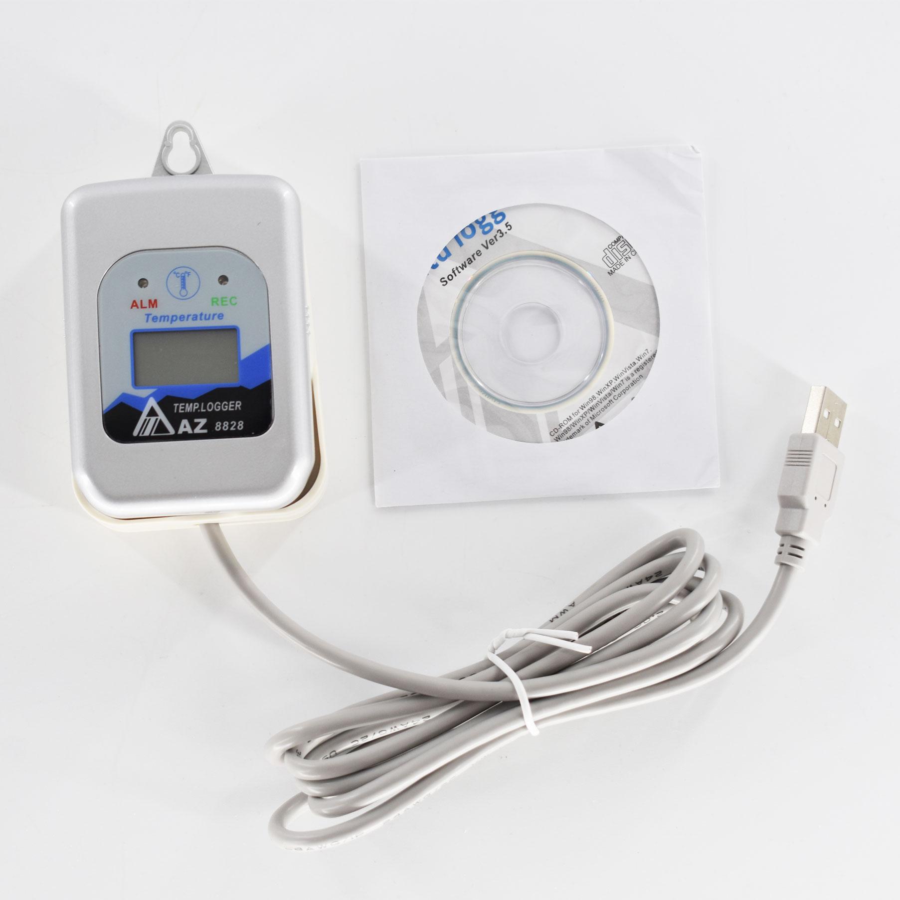 مسجل بيانات درجة الحرارة الرقمية AZ8828S مسجل درجة الحرارة (مع برنامج و كابل بيانات)