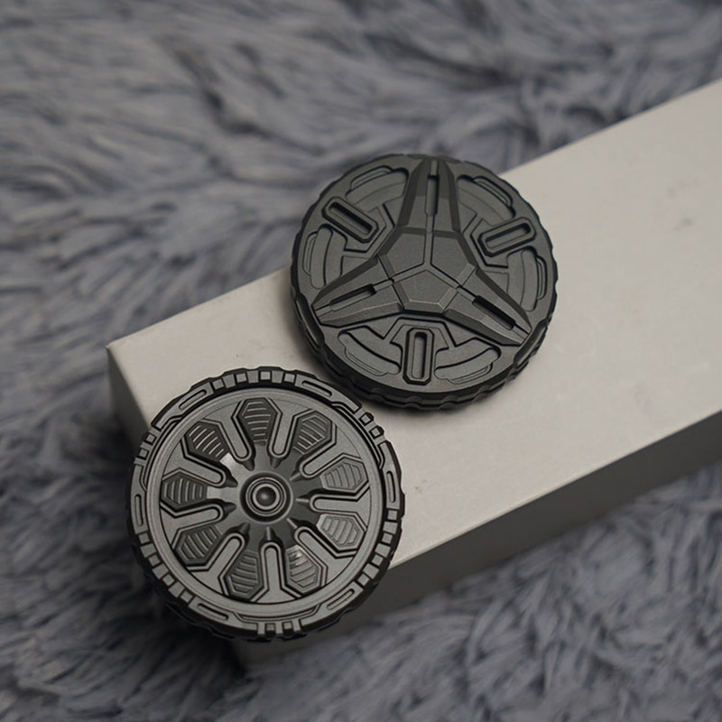 Titanium Alloy Pop Coin PPB Fingertip Snap Coin EDC Magnetic Fingertip Gyro Decompression Toy enlarge