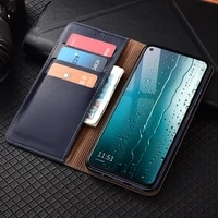first layer genuine leather wallet case for oppo a52 a72 a92 a92s a5 a15 a55 a15s a53 a8 a91 a93 5g magnetic flip cover cases