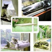 Cómoda ventana montada gato hamaca ventosas cama mascota cubierta lavable I88