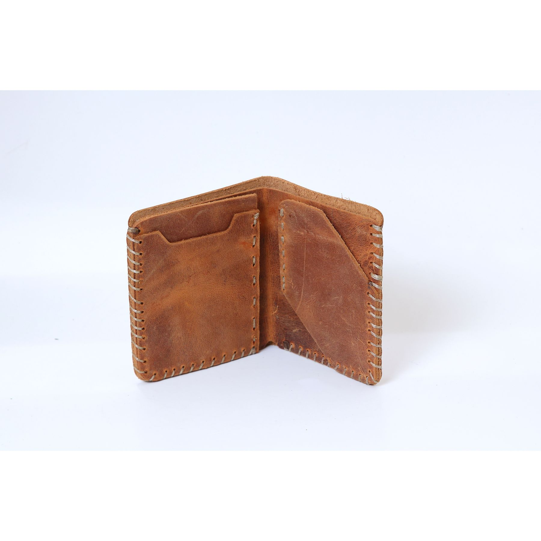 Men's credit card holder wallet bank card Business id card holder leather card organizer Genuine cow leather model 3