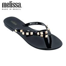 Melissa Flip Flop Harmonic Studs Women Jelly Shoes 2020 Summer New Women Flat Slippers Jelly Sandals Melissa Female Flip Flops