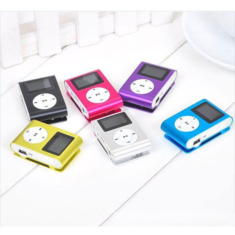 Portable MP3 Player Metal Clip Mini USB Digital Mp3 Music Player LCD Screen Support 32GB Micro SD TF