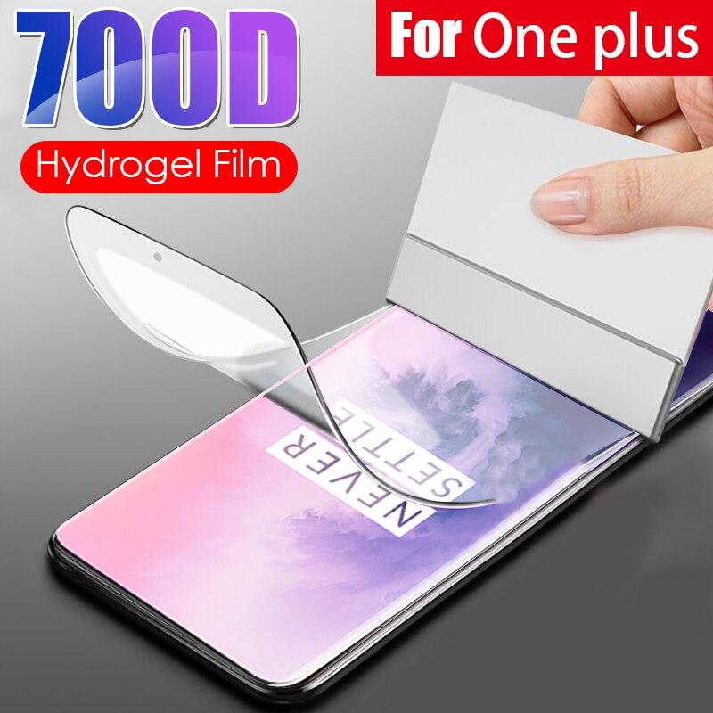 Película suave de hidrogel para One plus 8 7 6 5 Pro 8 Lite, Protector de pantalla de cobertura completa para Oneplus 7T 6T 5T, película protectora, no de cristal