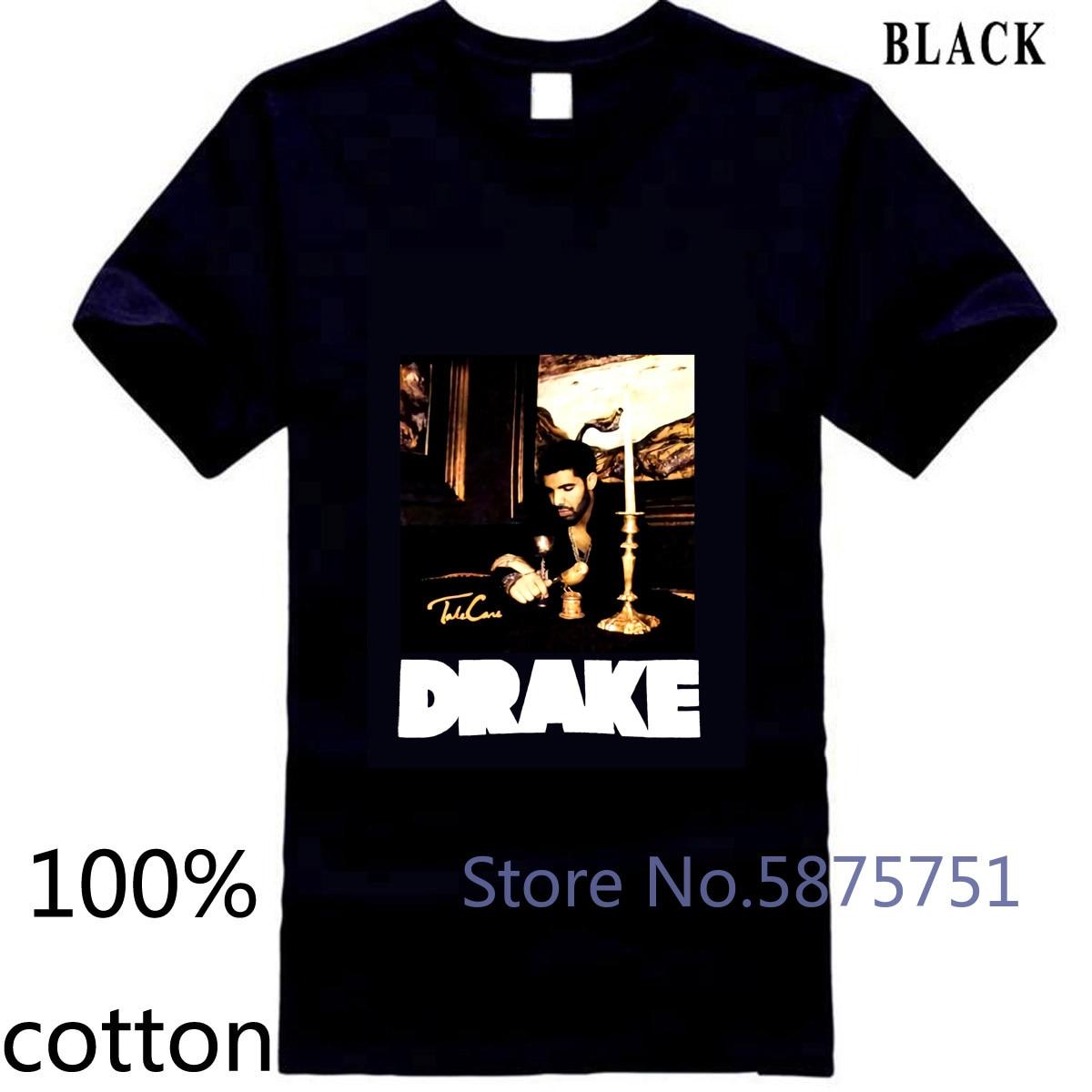 Drake Candles gris Logo reflectante negro Nuevo estilo oficial adulto Hip Hop hombres Venta de camiseta de los hombres camiseta tops camisetas de algodón