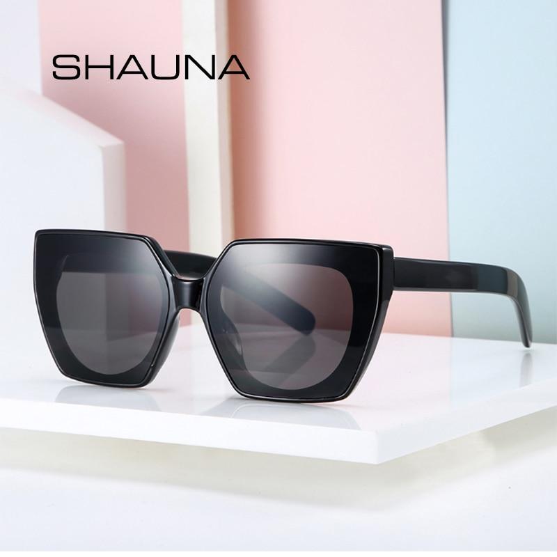 SHAUNA Oversize Ins gafas de sol cuadradas populares