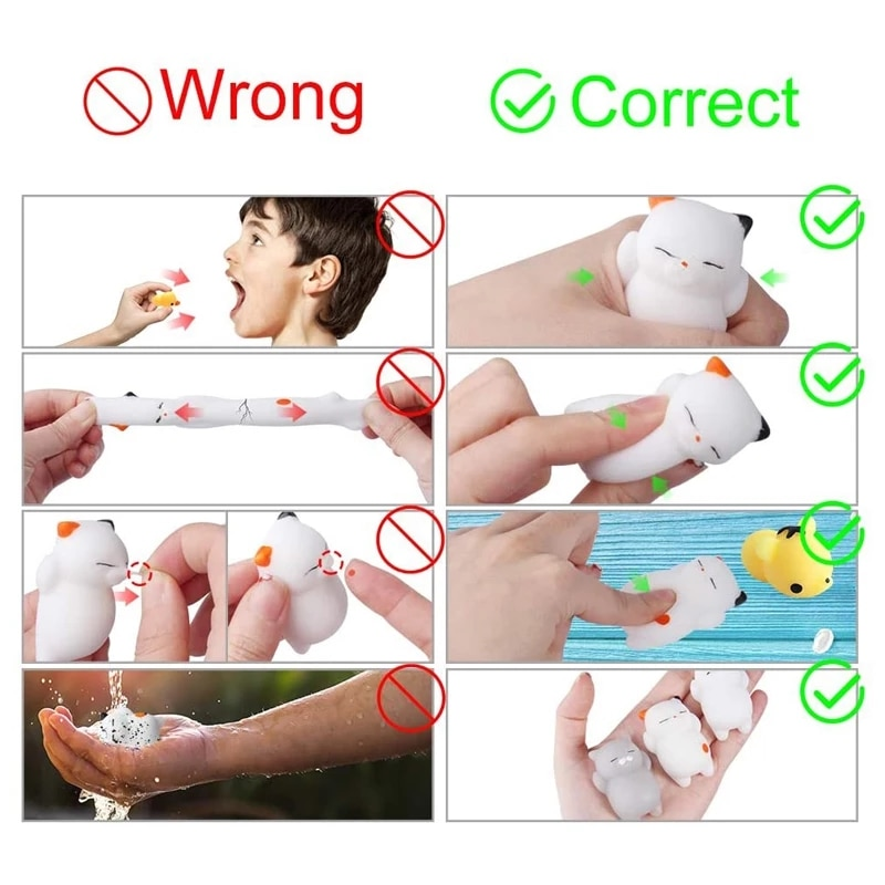 mochi squishy pack set Cat Slow Rising Squeeze Healing Fun Kawaii Kids Adult Toy Stress Reliever Decor 10pcs/lot all different enlarge