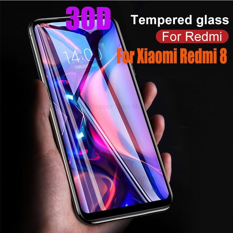 30D cubierta completa de pegamento de vidrio templado para Xiaomi Redmi 8 Note 8 7 6 5 Pro K20 Pro protector de pantalla para Xiaomi Redmi 8 7 7A 6A Mi9T