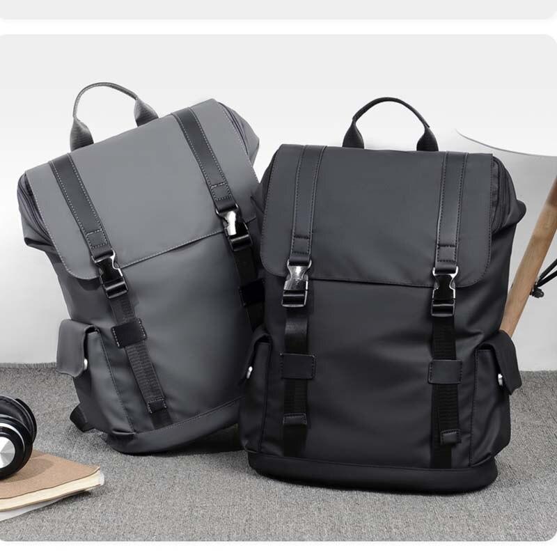 2021 Men Backpack Nylon Waterproof Backpack School Bags for Teenage Large Capacity Men's Travel Bag Mochila Laptop Bag Sports 17 inch laptop backpack casual shoulders bag for teenage men backpack school bags waterproof backpack travel suitcase 17 3 inch