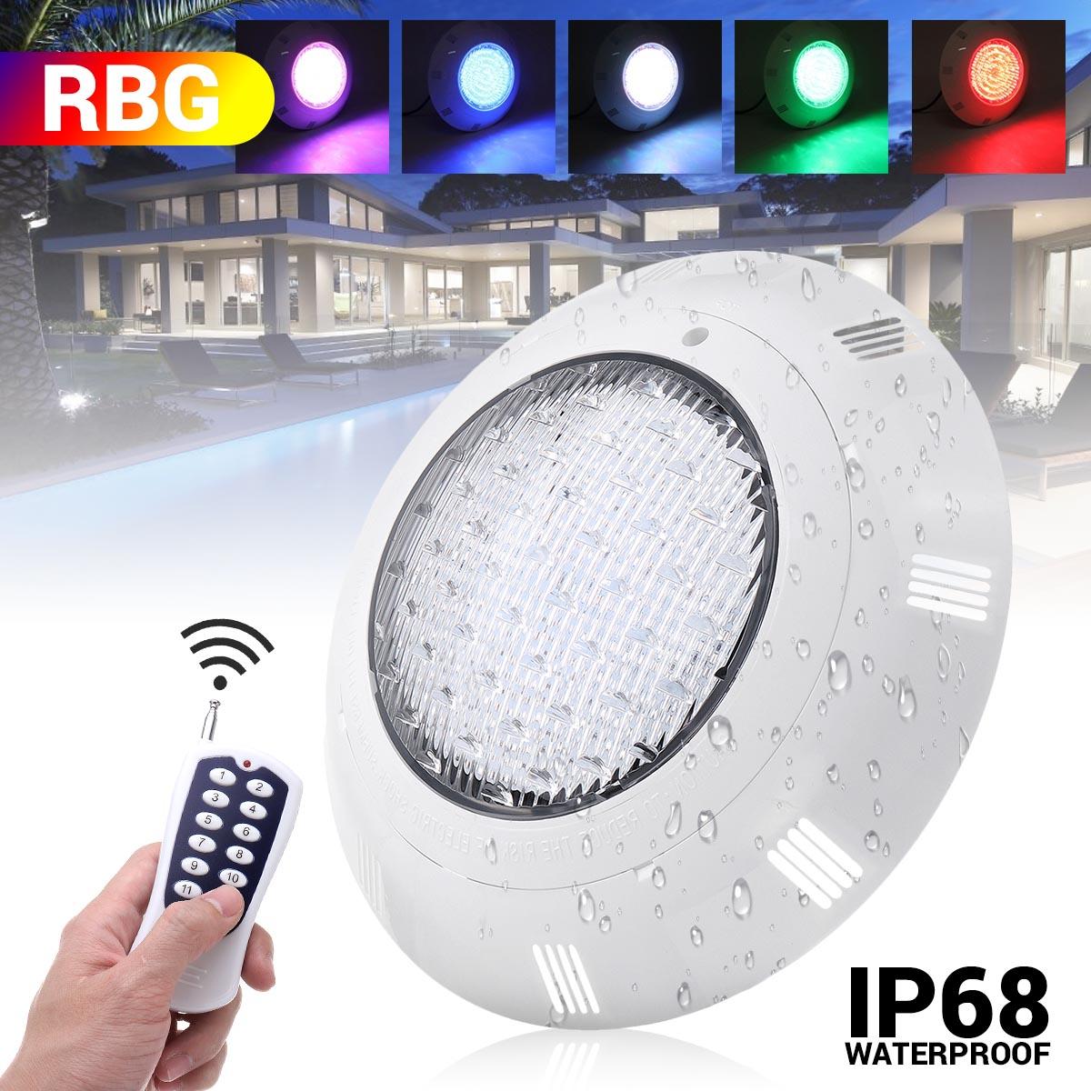 35W RGB Led حمام سباحة ضوء 360LED IP68 للماء AC/DC12V-24V في الهواء الطلق RGB تحت الماء ضوء بركة Led Piscina هل لوز الأضواء