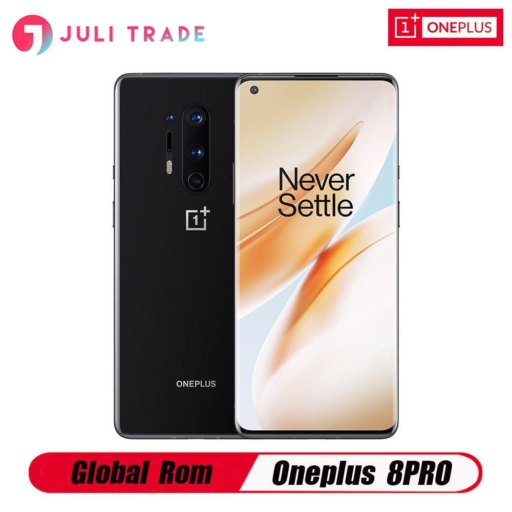 "Rom global oneplus 8 pro 5g snapdragon 865 8gb 128gb 6.78 ""120hz tela fluida 30w carregamento sem fio 4510mah smartphone"