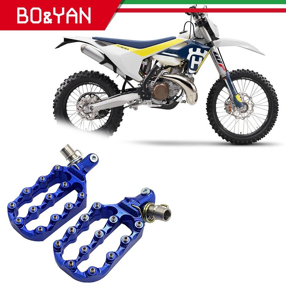 Para Husqvarna TC85 TC250 FC250 FC450 FS450 FX300 FX450 TX125 para KTM 85SX 250SX accesorios de la motocicleta pie ancho Peg reposapiés