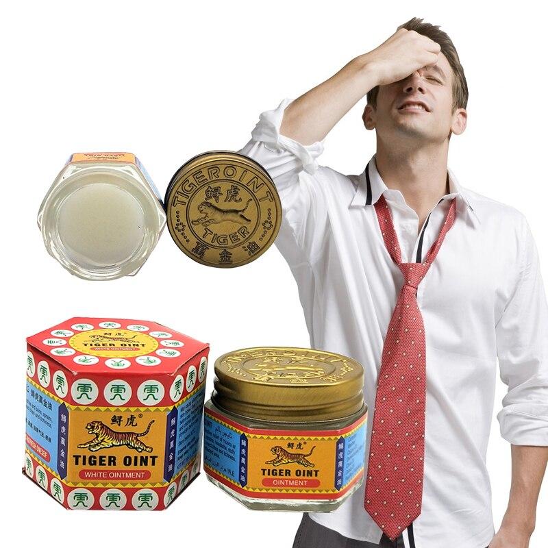 100% Original Thailand Painkiller ungüento blanco Tigre bálsamo ungüento músculo alivio del dolor ungüento aliviar la comezón