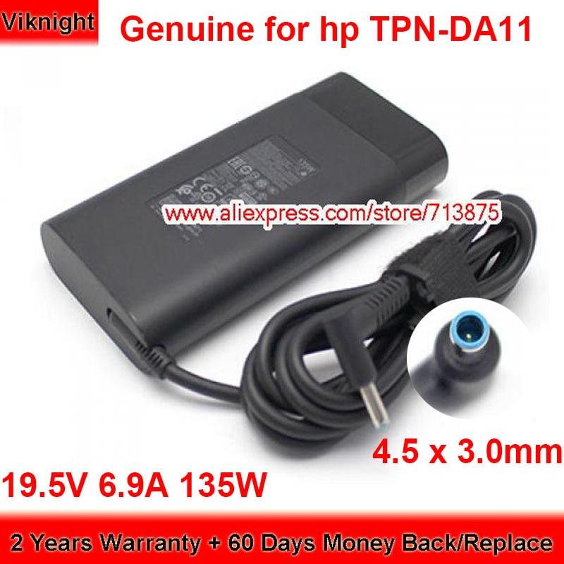 حقيقي TPN-DA11 التيار المتناوب محول 19.5 فولت 6.9A 135 واط ل Hp الأطياف X360 بافيليون 15-EC0001CA 15-BC440TX L15534-001 TPN-Q229 المحمول