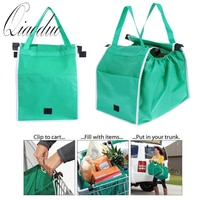 Magic Fish 1 pc Shopping Bag Foldable Eco-friendly Reusable Large Trolley Supermarket Large Capacity Tote Bag